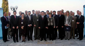 Mr. Gavrilovski on the Family photo of the Vienna Economic Forum Ohrid Meeting 2007
